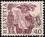 Stamps Switzerland -   Herald lectura proclamación y hombres escalando la pared , en Ginebra.