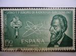 Stamps of the world : Spain :  Ed. 1967 - VII Congreso Latino y 1º Europeo de Radiología - Barcelona.
