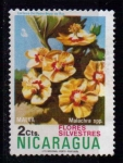 Sellos de America - Nicaragua -  Flores silvestres. Malva