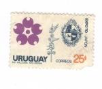 Sellos de America - Uruguay -  Expo 1970.Japón