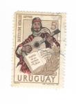 Sellos de America - Uruguay -  Bartolome Hidalgo.Poeta de la patría