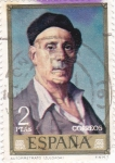Stamps of the world : Spain :  AUTORETRATO (Zuloaga)  (13)