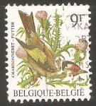 Stamps Belgium -  AVES.   CHARDONNERET.