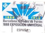 Stamps Spain -  BARCELONA 100 AÑOS DE FERIAS 1888 EXPOSICIÓN UNIVERSAL (13)