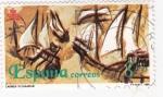 Sellos de Europa - España -  ILUSTRACIÓN CARABELAS (13)