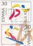 Stamps Spain -  ILUSTRACIÓN-ATLETISMO Y ESQUÍ  (13)