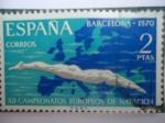 Sellos de Europa - España -  XII Campeonatos Europeos de Natación - Barcelona 1970