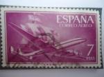 Stamps Spain -  Ed. 1178 - Super Constelatión y Nao-Santa María.