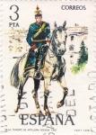 Sellos de Europa - España -  TENIENTE DE ARTILLERIA RODADA 1912 (13)