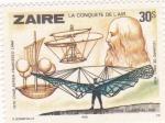 Stamps Democratic Republic of the Congo -  LA CONQUISTA DEL AIRE-LEONARDO DA VINCI