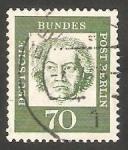 Stamps Germany -  Berlin - 189 - Ludwig van Beethoven