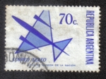 Sellos del Mundo : America : Argentina : Air Mail - Stylized aircraft