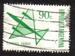 Sellos de America - Argentina -  Air Mail - Stylized aircraft