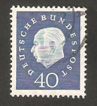 Stamps Germany -  176 - Presidente Thedore Heuss