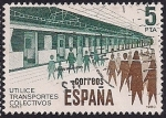 Stamps : Europe : Spain :  Transportes colectivos