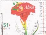 Sellos de Europa - Portugal -  25 AÑOS DE LA REVOLUCIÓN
