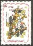 Stamps Haiti -  Fauna, ceophloeus pileatus