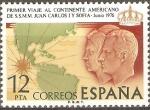 Stamps Spain -  PRIMER  VIAJE  AL  CONTINENTE  AMERICANO  DE  S.S.M.M.  JUAN  CARLOS  I  Y  SOFIA