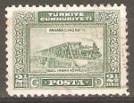Stamps Turkey -  PUENTE  DEL  FERROCARRIL  SOBRE  KIZIL  IRMAK
