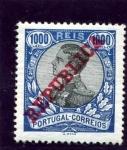 Sellos de Europa - Portugal -  Manuel II con sobrecarga de Republica