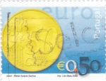 Sellos de Europa - Portugal -  MONEDA DE 50 CENTIMO DE €
