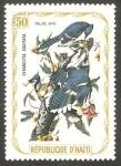 Stamps : America : Haiti :  Fauna, cyanocitta cristata