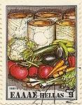 sellos de Europa - Grecia -  verduras