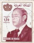 Stamps Morocco -  HASSAN II MONARCA