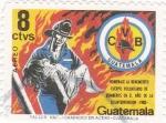 Sellos de America - Guatemala -  HOMENAJE AL BOMBERO VOLUNTARIO