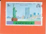 Sellos de America - Anguila -  ESTATUA DE LA LIBERTAD Y TORRES GEMELAS