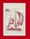 Stamps Africa - Rwanda -  Juegos Olimpicos  Montreal 1976  -  Vela