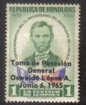 Sellos de America - Honduras -  Toma de Posesión General Oswaldo López A.