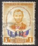 Sellos del Mundo : America : Honduras : Conmemorativa del CL Aniversario del Nacimiento de Lincoln