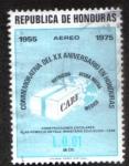 Sellos de America - Honduras -  Conmemorativa del XX Aniversario en Honduras