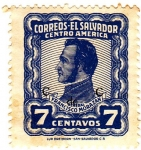Stamps El Salvador -  General Francisco Morazan