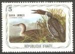 Stamps : America : Haiti :  Fauna, gavia immer