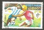Sellos de Asia - Vietnam -  Mundial de fútbol Italia 90