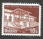 Sellos del Mundo : Europa : Moldavia : 639 - Edificio del siglo XIX, en Dolma