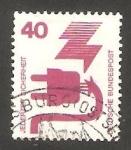 Stamps Germany -  575 - Prevención de accidentes, toma de corriente, con número de control