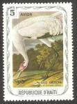 Stamps : America : Haiti :  Fauna, grus americana