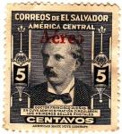 Stamps America - El Salvador -  doctor francisco dueñas en cuya administracion circularon los primeros sellos postales