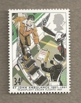 Stamps United Kingdom -  Ambulancias St John