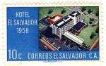 Stamps of the world : El Salvador :  hotel de el salvador 1958