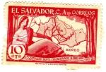 Sellos de America - El Salvador -  1er. centenario depto. chalatenango 14 febrero 1855-1955