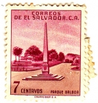 Sellos de America - El Salvador -  parque balboa