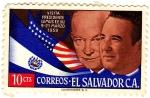 Stamps of the world : El Salvador :  visita presidente lemus a e.e.u.u 9-21 marzo 1959