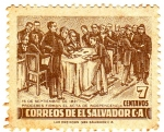 Stamps of the world : El Salvador :  15 de septiembre de 1821 proceres firman el acta de independencia