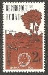 Stamps : Africa : Chad :  Cabeza de león y Batha