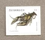 Stamps Austria -  Cangrejo de río