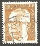 Stamps Germany -  516 C - Presidente G. Heinemann